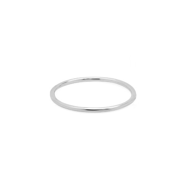 14k white gold stackable midi knuckle waif ring
