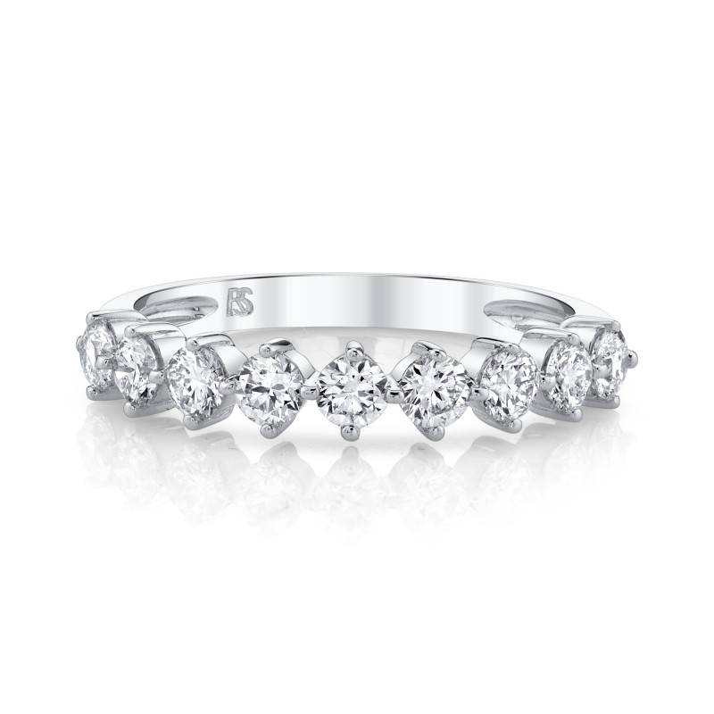 14k White Gold Diamond Compass Set Ring