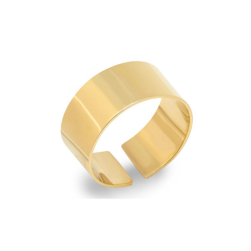 14k Yellow Gold Smooth Ring