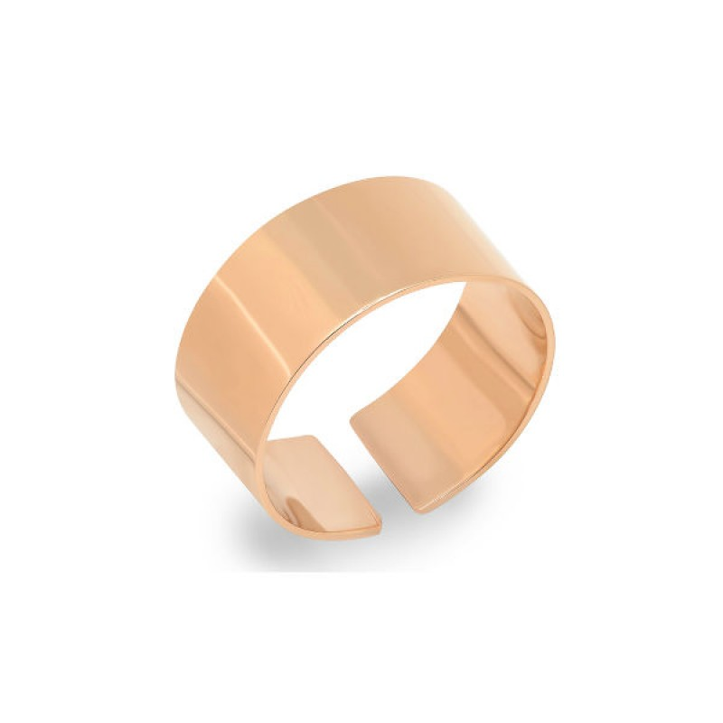 14k Rose Gold Smooth Ring