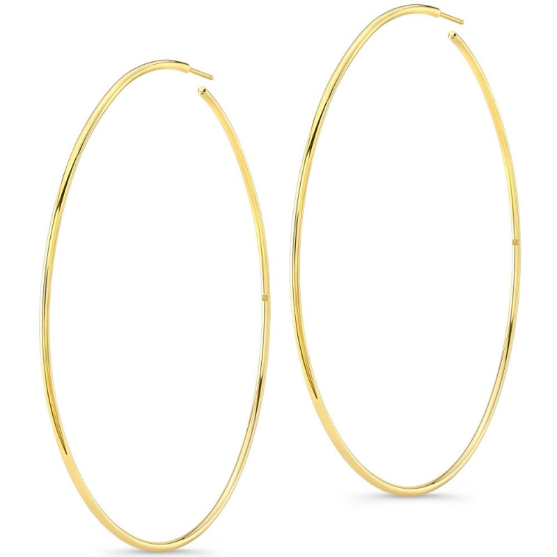 "14K Yellow Gold 3"" Hoops"