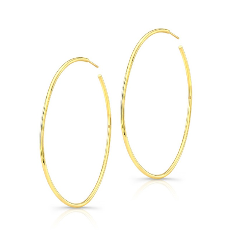 """14k Yellow Gold 2"""" Hoops"""