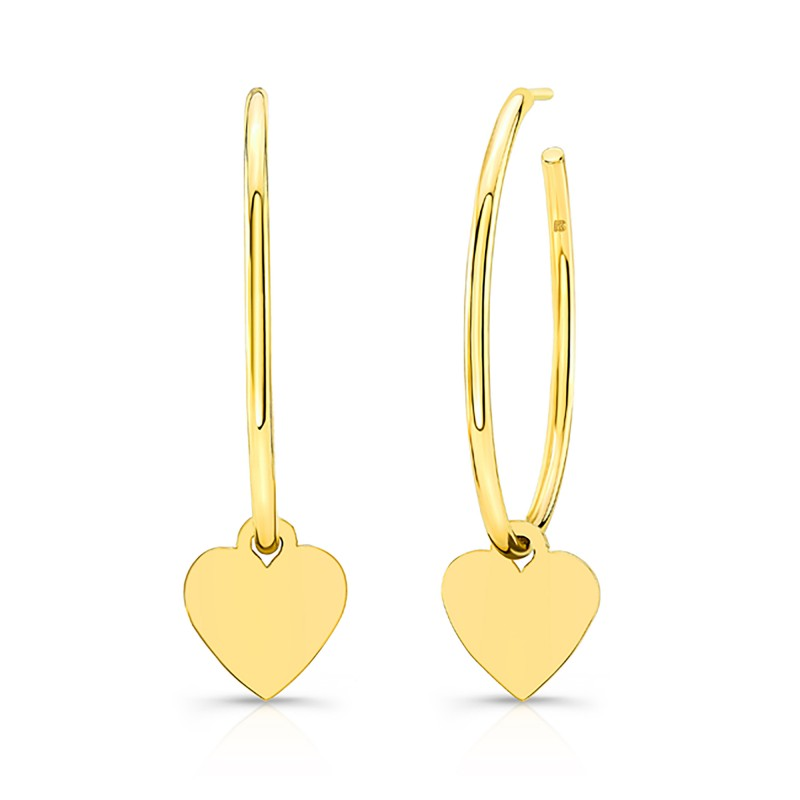 14k Yellow Gold Floating Heart Charm