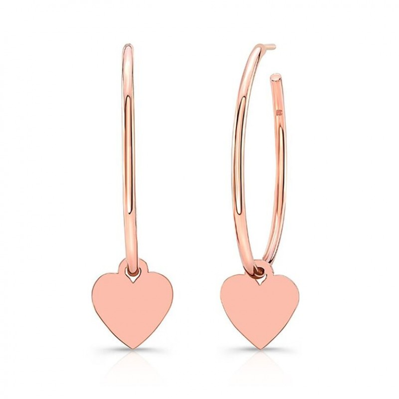 14k Rose Gold Floating Heart Charm