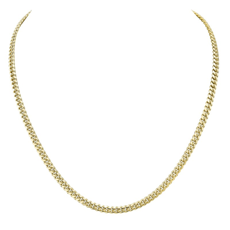 14k Yellow Gold Miami Cuban Necklace