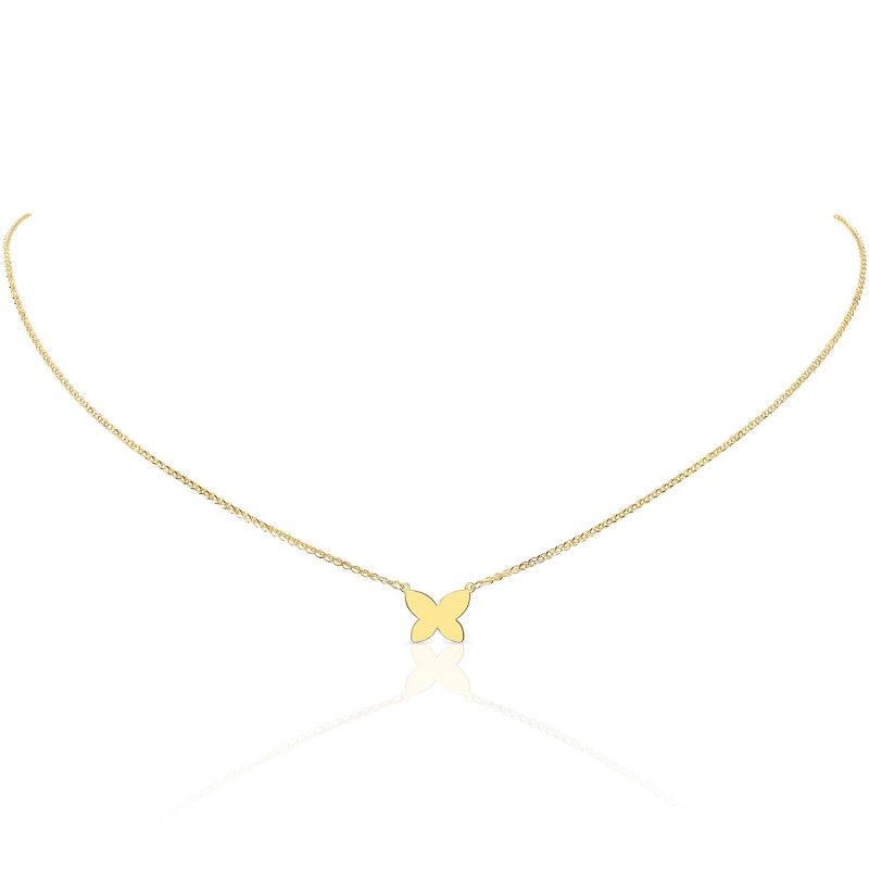 Kids' 14k Yellow Gold Floating Butterfly Necklace