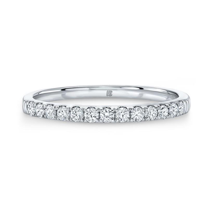 14k White Gold Diamond Stack Ring