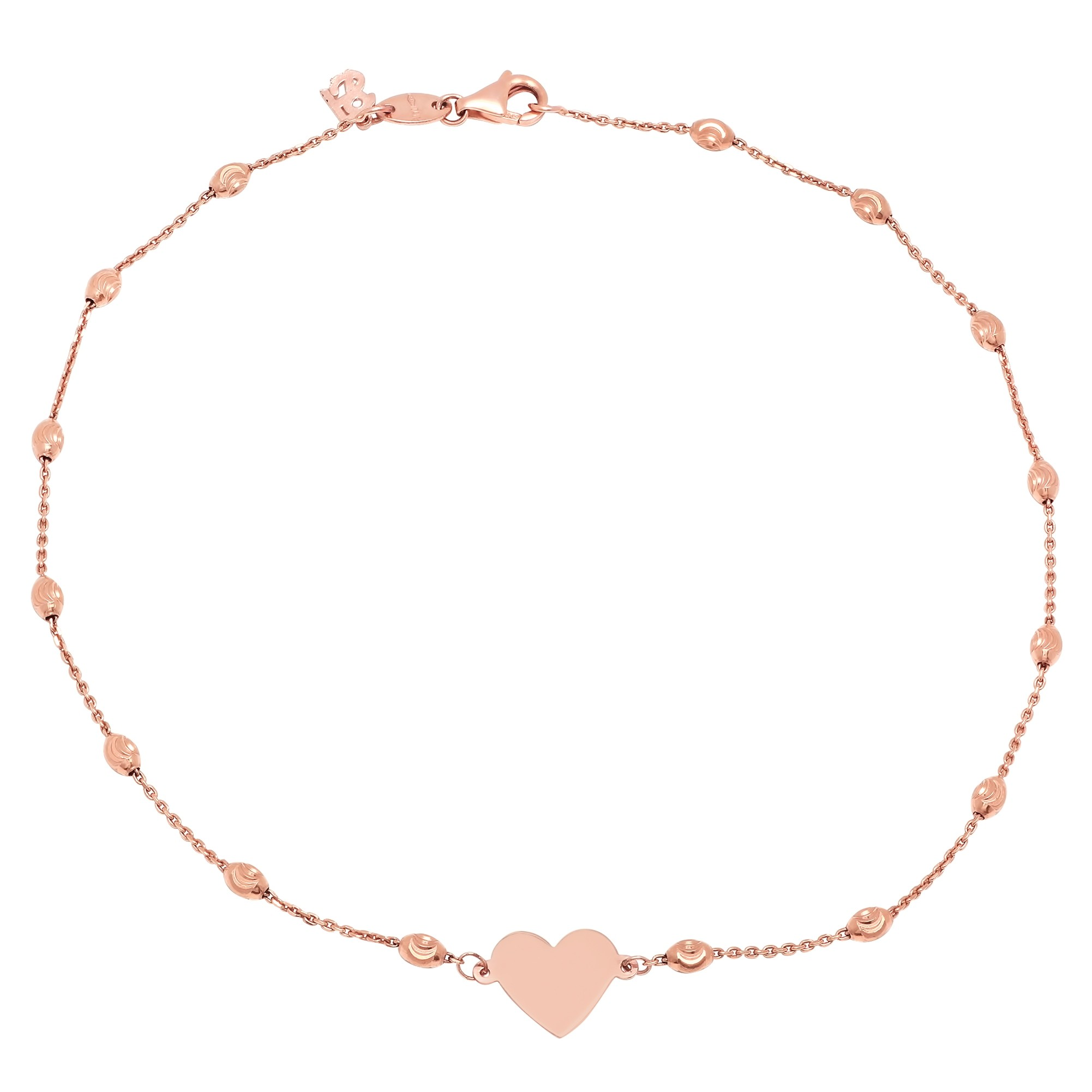 products oval rose solid cwvb dainty bracelet dot thick gold fashion bead il charm open anklet fullxfull bangle love