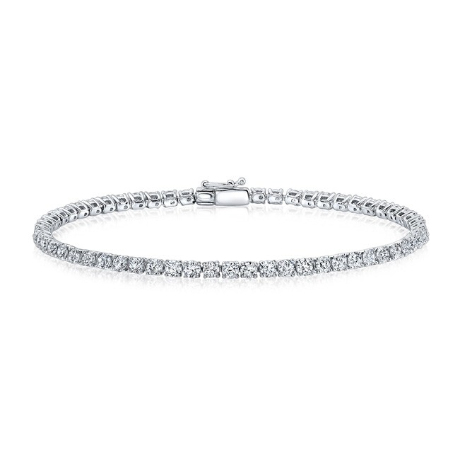 14k Gold 3 CT Diamond 4 Prong Tennis Bracelet