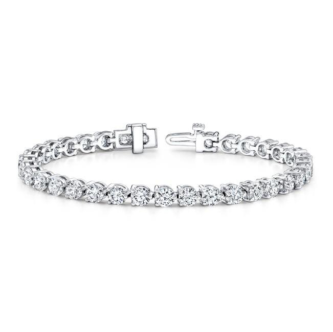 14k Gold Diamond 3 Prong 3CT Tennis Bracelet