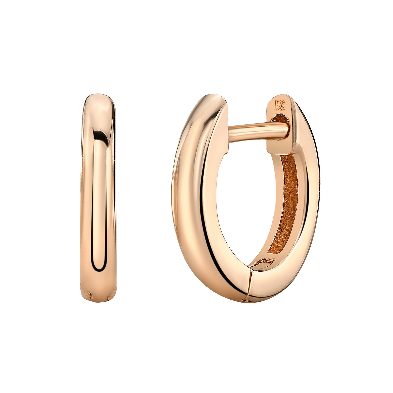 14k Rose Gold Mini Huggie Hoop Earrings