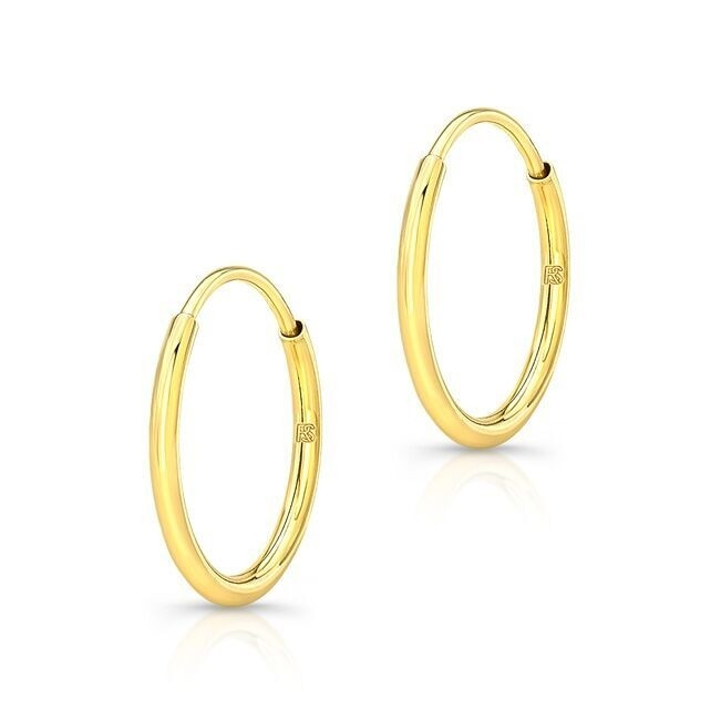 14K Yellow Gold Comfy Hoops