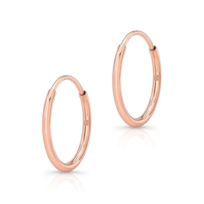 14k Rose Gold Comfy Hoops