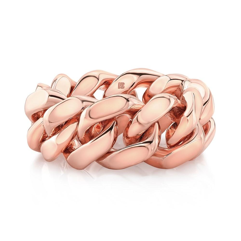 14k Rose Gold Cuban Link Ring