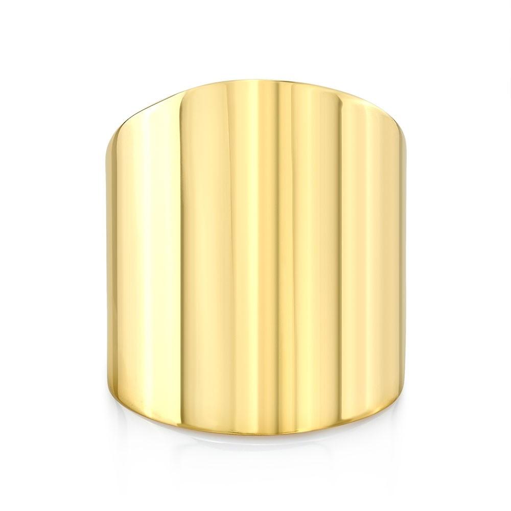 14k Yellow Gold Smooth Cigar Band