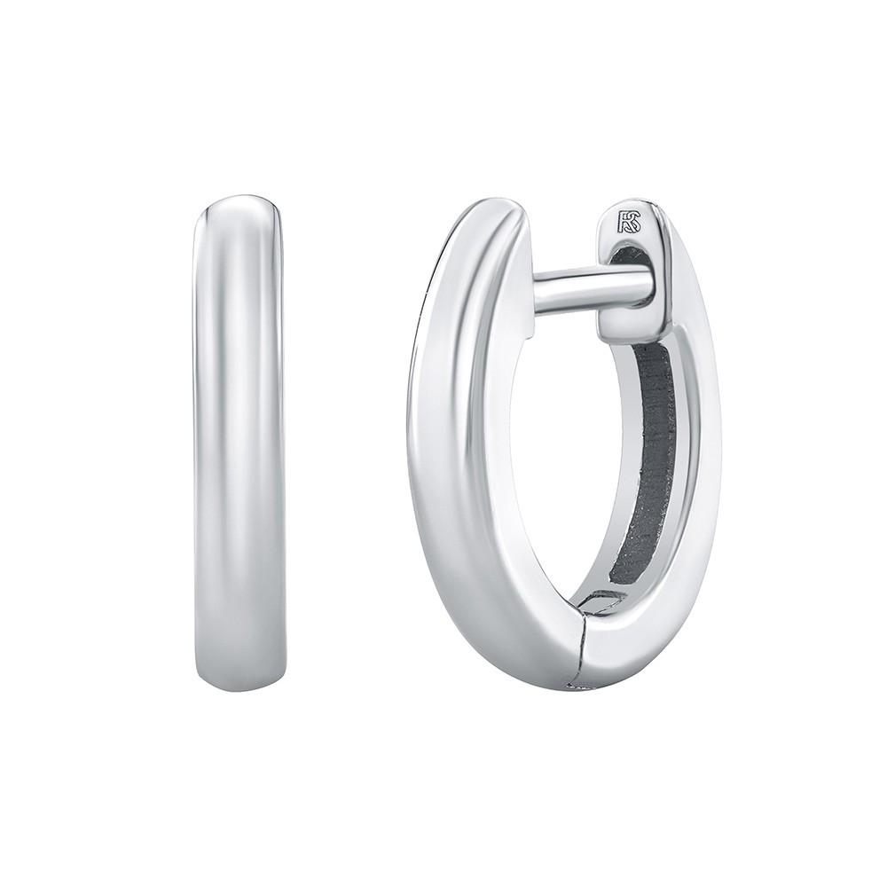 14k White Gold Mini Huggie Hoop Earrings