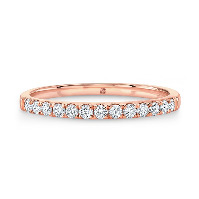 14k Rose Gold Diamond Stack Ring