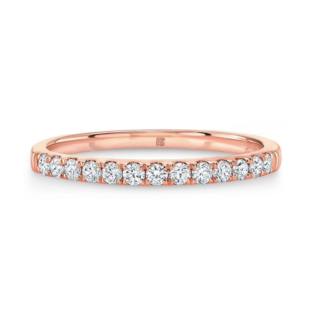 14k Rose Gold Diamond Stack Ring