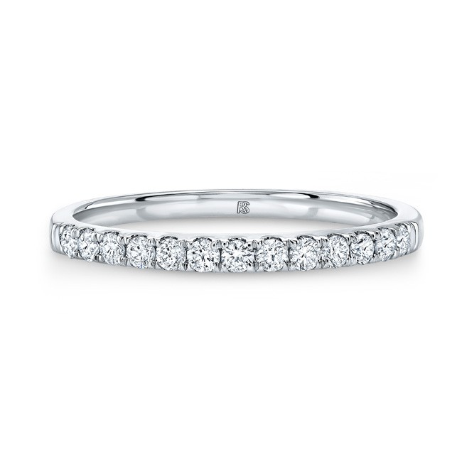 14k White Gold Diamond Stack Ring