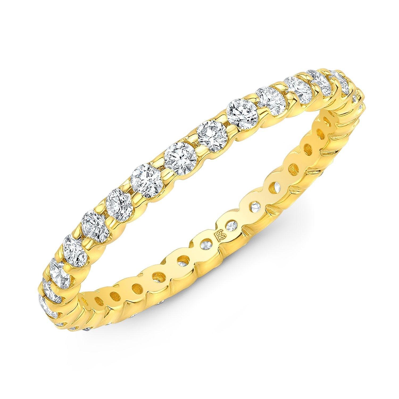 14k Yellow Gold Diamond Eternity Band