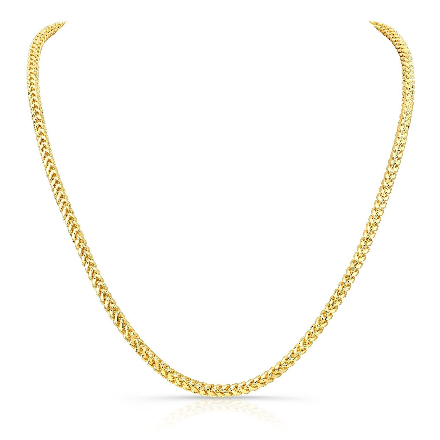 14k Yellow Gold Solid Franco Chain Necklace